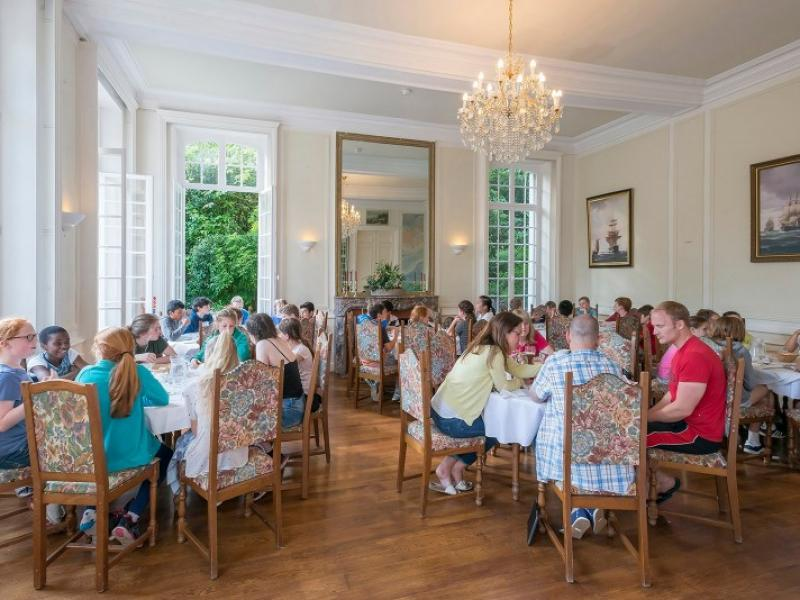 Dining at the Château during your school trip