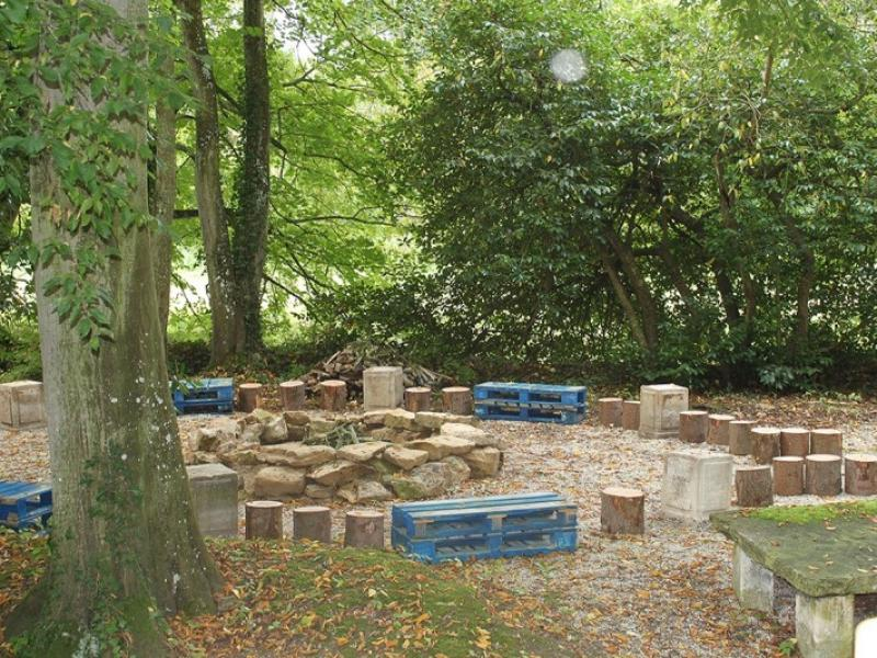 Woodland seating area